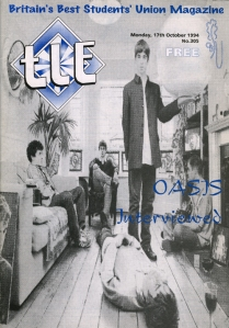 TLE the last edition Oasis Definately Maybe Oxford Brookes Students' Union magazine