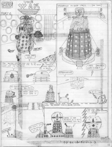 Davros Daleks comic strip Doctor Who Emperor