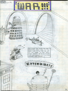 Ayd Instone comic strip Daleks K9 Quarks Doctor Who