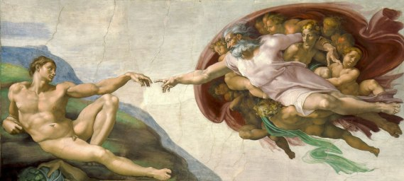 The Creation of Adam Michelangelo Sistine Chapel God and man